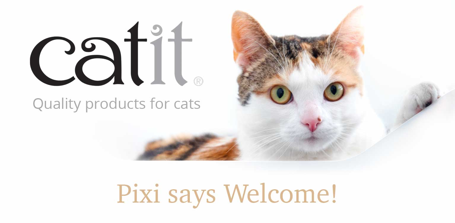 Welcome to Catit - Pixi says welcome